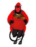 Satan Santa Krampus. Christmas monster for bad children and bull Stock Photo