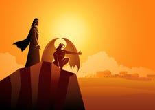 Satan Tempts Jesus In The Wilderness Royalty Free Stock Photos
