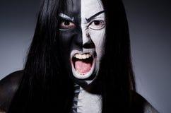 Satanhalloween begrepp Arkivbild