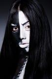 Satanhalloween begrepp Royaltyfri Fotografi