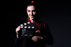 Satanhalloween-Konzept mit Film stockbild