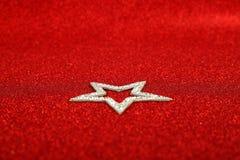 Satanic christmas. Card with pentagram on glitter background Stock Image