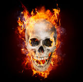 Satanic Skull In Flames Stock Photos