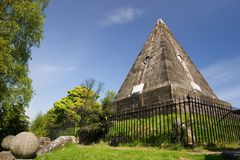 Satar Pyramid, Stirling. A peculiar monument in Stirling, Scotland, supposedly commemorating those who dies for their religion, but full of pagan symbolism Stock Images