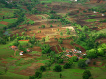 Satara village aerial view Stock Image