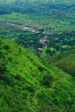 Satara village aerial view Royalty Free Stock Photography