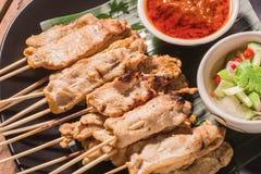 Satay猪肉泰国开胃菜 库存图片