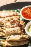 Satay猪肉泰国开胃菜 免版税库存图片