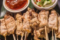 Satay猪肉泰国开胃菜 库存照片
