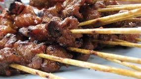 satay的牛肉 免版税库存图片
