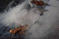 Satay, питает еду индонезийца ayam Стоковое фото RF