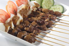 Satay. Traditional food satay from indonesia from meat cow royalty free stock image