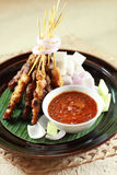 Satay. Asian delicious chicken satay food stock photography
