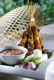 Satay. Asian delicious food satay skewers royalty free stock image