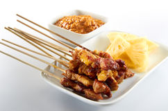 Satay. Asian traditional food with simple setup royalty free stock images