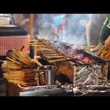 Satay Fotos de Stock Royalty Free