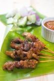 Satay asiatisk mat Arkivbilder