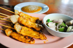 Satay barbequed Stock Images