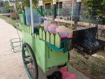 satay carts stock image