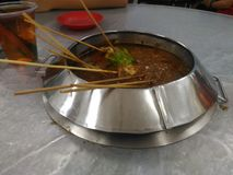 Satay Celup. Famous food of Melaka, Satay celup Royalty Free Stock Images