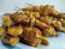 Chicken skewer. Satay or chicken skewer Stock Photo