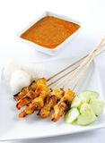 Satay chicken stock images