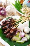 Satay daging. стоковые изображения rf