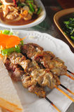 Beef skewer Stock Images