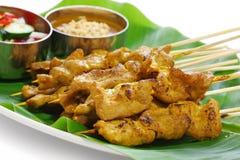 Satay Moo, varkensvlees satay, Thaise keuken Stock Foto