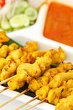 Satay, One Of Most Famous Thai Food Royalty Free Stock Photography