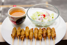 Satay pork Royalty Free Stock Image