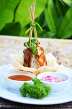 Satay Pork in Peanut Sauce Stock Images