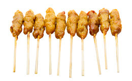 Satay pork Stock Photography
