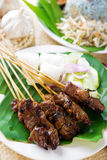 Satay or sate Stock Photo