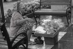 Satay sprzedawca zdjęcie royalty free