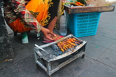 Satay. Street Food at Malioboro Street Royalty Free Stock Photo