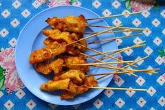 satay thai för meat Arkivbild