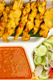 Satay, Thai style food Royalty Free Stock Photo