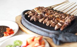 Satay is a typical Indonesian food royalty free stock photos