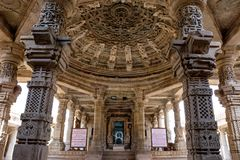 Satbees Jain temple in Chittaurgarh fort in Rajasthan, India stock photo