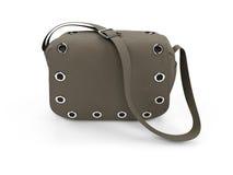 Satchel. Isolated satchel on a white background Stock Image