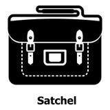 Satchel bag icon, simple black style Stock Photo