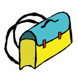 Satchel. Cartoon illustration of school satchel Stock Photo