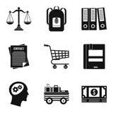 Satchel icons set, simple style Stock Photo