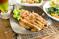 Sate Ayam - organic food of Bali Stock Photos