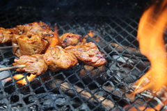 Sate on bbq or grill Stock Image