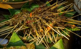 Sate or satai traditional meet food stock photography