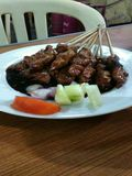 Sate. Traditional food from indonesia royalty free stock image