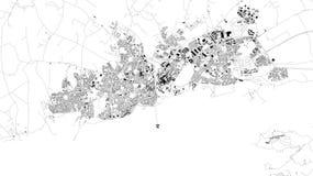 Satelitarna mapa Galway, Irlandia, miasto ulicy ilustracja wektor