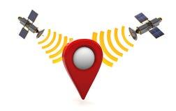 Satelitarna nawigacja Zdjęcia Royalty Free